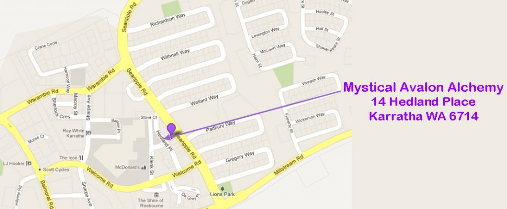 "Mystical Avalon Alchemy | 14 Hedland Place | Karratha WA 6714 | ""Street Map"""